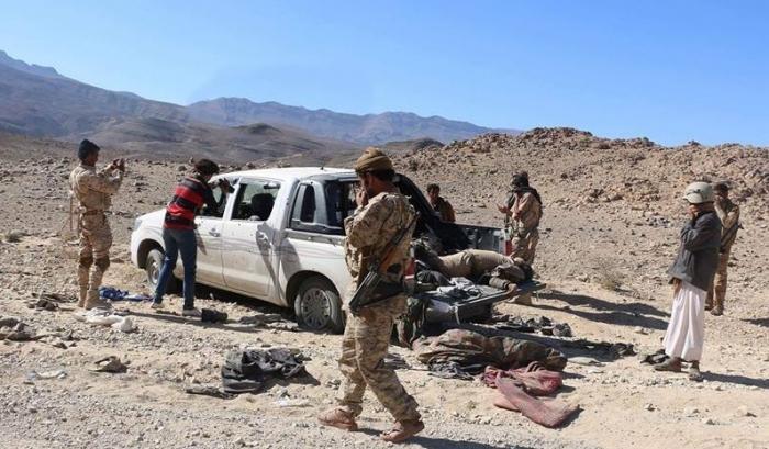 شاهد : هكذا كانت نهاية التعزيزات العسكرية التابعة للحوثي وصالح في جبال صنعاء(صورة)
