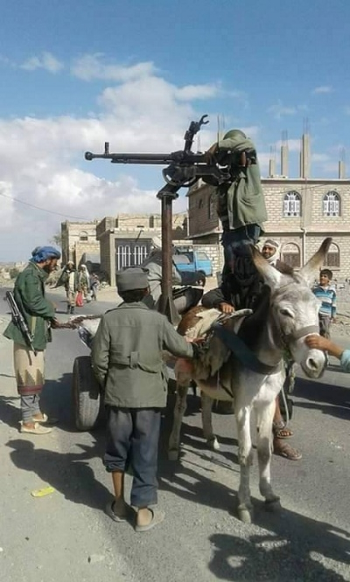 شاهد الصورة : مقاومة البيضاء تستخدم السلاح الاحدث والاغرب في مواجهة المليشيات