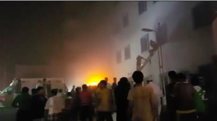 حريق ضخم بمستشفى جازان السعودي يتسبب بمقتل 25 وإصابة 107 آخرين (صور)