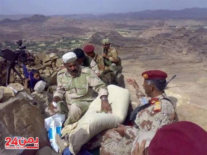 ثابت جواس يبدأ مطاردة الحوثي من صعدة