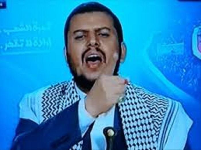 شاهد كيف ظهرعبدالملك الحوثي على قناة المسيرة