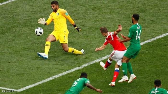 سقوط مؤلم للأخضر السعودي أمام روسيا في افتتاح المونديال بخسارته 0-5