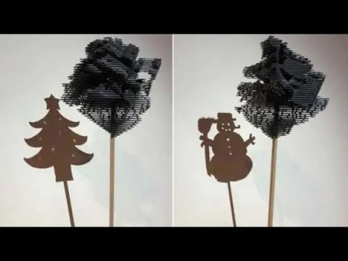 بالفيديو: تماثيل مدهشة تتغير حسب زاوية النظر إليها