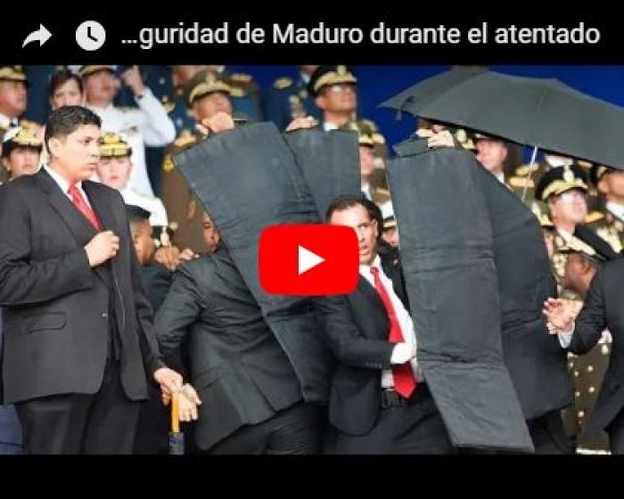 شاهد فيديو يوثق لحظة محاولة اغتيال رئيس فنزويلا ورد فعل مرافقيه