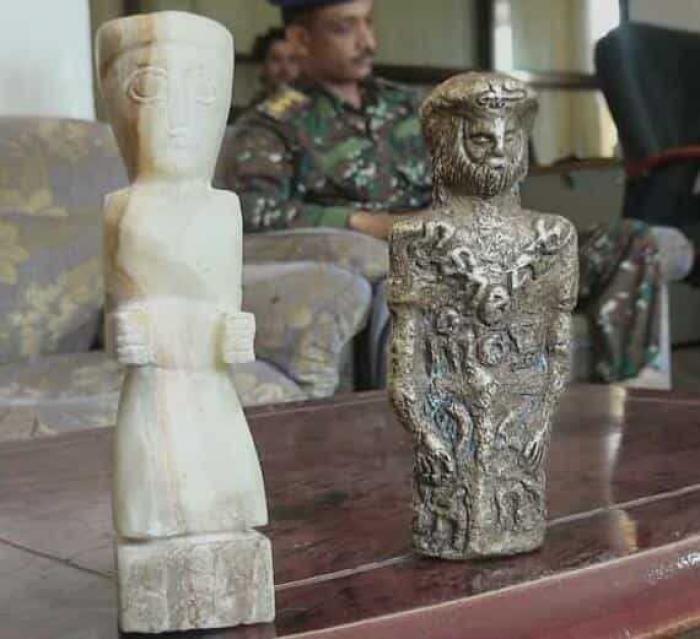مأرب.. قطع أثرية عمرها آلاف السنين في طريقها للتهريب إلى خارج اليمن