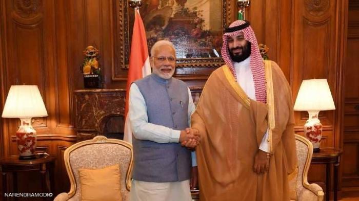 ولي العهد السعودي يلتقي رئيس وزراء الهند قبيل قمة العشرين